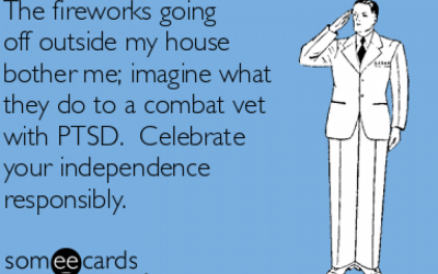 Being Mindful of Those with PTSD and Independence Day Fireworks